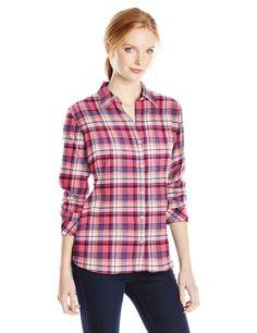 SUPERZ Long Sleeve Classic Collar Plaid Flannel Shirt