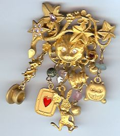 Vintage Kirk's Folly Alice in Wonderland Pin. I have this