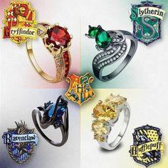 Bildergebnis für hogwarts house rings