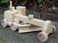FREE SHIPPING Wooden Toy Road Grader Wee by MyFathersHandsLLC, $35.00