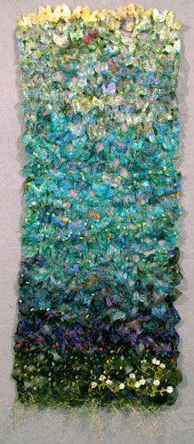 textile art by Midge Gourlay - I love these colors