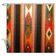 Indian blanket Shower Curtain Cafe Press