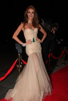 Tulin Sahin, our Turkish Cindy Crawford is elegant as usual :) Love her red carpet look!