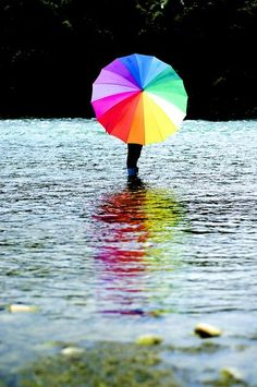Rainbow umbrella!