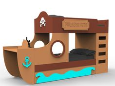 FICHA CARIBEAN - art4kids - Habitaciones temáticas para niños Play Beds, Kid Beds, Creative Beds, Wood Yard Art, Room Partition Designs, Cool Bunk Beds, Diy Playground, Reclaimed Wood Wall Art, Childrens Beds