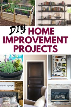 Spruce up your curb appeal & home decor with these DIY Home Improvement Projects and – whether you want to change the design of your house or looking for an idea on decorating the wall of your bathroom these ideas will save you money if you do-it-yourself!