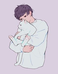 anime, lovely, and manga image pastel silhueta Image Pastel, Art Pastel, Pastel Purple, Anime Chibi, Manga Anime, Anime Art, Anime Boys, Aesthetic Anime, Aesthetic Art