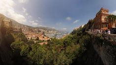 Yachts and port from Royal Palace, Monaco