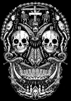 Bad ass skull