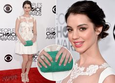 Love the floating lace bib and cap sleeves   Adelaide Kane in Rhea Costa | 2014 People's Choice Awards