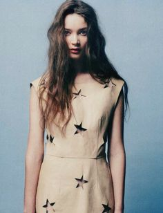Punched Star Dress, Acne