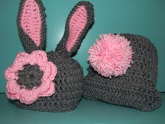 Newborn Baby Prop - Crochet Bunny Hat and Diaper Cover Pattern