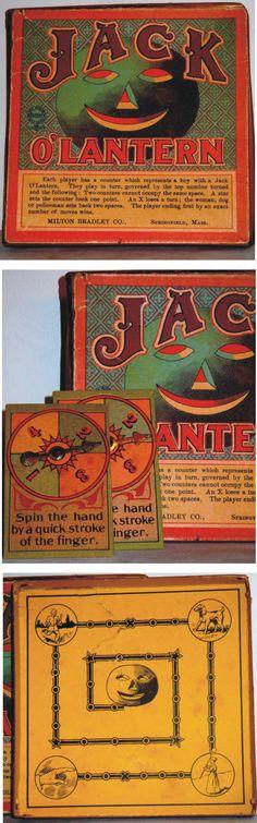 Jack O'Lantern - vintage Halloween board game by Milton Bradley
