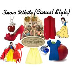 Snow White (Casual Style), created by nasuada on Polyvore