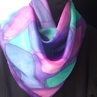 Hand painted silk scarves with designs inspired... by Scilly Scarves on Folksy
