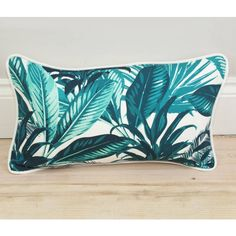 LITTLE PARADISE Tropical Palm Print Bolster Throw Pillow. (€52) ❤ liked on Polyvore featuring home, home decor, throw pillows, decorative bolster pillow, bolster pillow, tropical throw pillows, tropical accent pillows and neck bolster pillow
