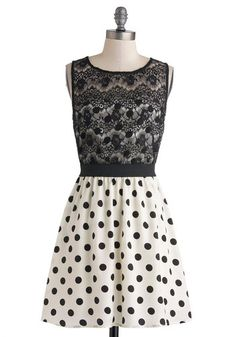 Dot You Look Lovely Dress, #ModCloth