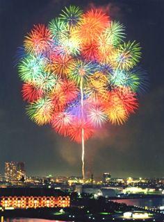 Fireworks in Yokohama, Japan