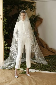 Carolina Herrera Bridal Spring 2017 | #BridalFashionWeek #BridalSuit [Photo: Thomas Iannaccone]