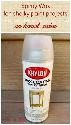 Did you know there is a spray wax product for finishing your chalky finish paint projects? I tested it out and you'll want to find out if I think it's a yay or a nay!