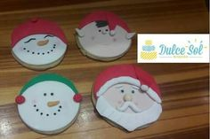 Galletas de azucar. Modelo Santa Claus, muñecos de nieve y Elfo