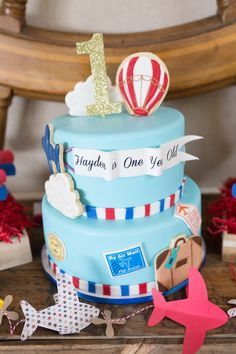 first birthday party ideas for boys vintage travel theme cake design
