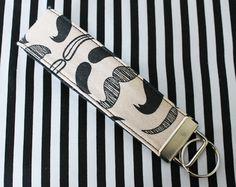 Fabric Keychain  Fabric Keychain Wristlet  by LittleMissHattitude