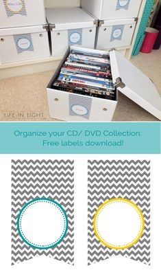 Organize your CD/DVD collection: free labels download from lifeineight.com