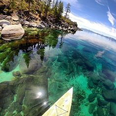 Crystal clear waters in Lake Tahoe. Location Sand Harbor, Lake Tahoe, NV, USA Photo by Lake Tahoe Nevada, Sand Harbor Lake Tahoe, Tahoe California, Sand Lake, Places To Travel, Places To See, Travel Destinations, Dream Vacations, Vacation Spots
