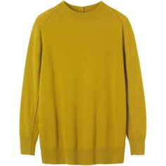Toast Lambswool Jumper, Olive ($83) ❤ liked on Polyvore featuring tops, sweaters, olive green top, long sleeve jumper, jumpers sweaters, army green top and yellow jumper