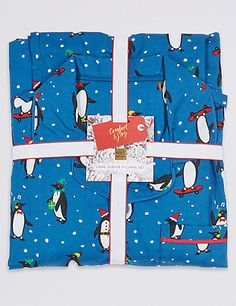 Buy the Pure Cotton Penguin Pyjamas Years) from Marks and Spencer's range. Cotton Pyjamas, Christmas 2017, Penguins, Pure Products, Stuff To Buy, Penguin