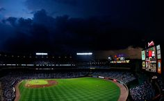 A view of Turner Field between Atlanta Braves against the Miami Marlins