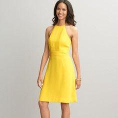Banana Republic Bright Yellow Halter Dress