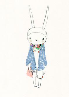 bunny, cutie, fashion, fifi, fifi lapin, illustration