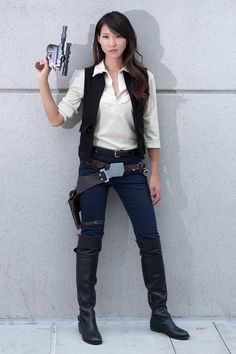 Female Han Solo Cosplay by ~milkchess on deviantART. I would totally do this over Princess Leia