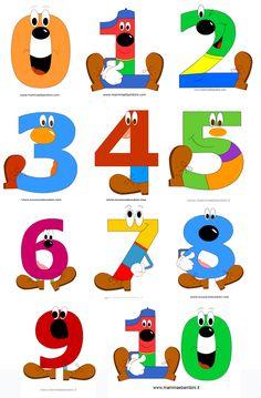 . Numbers For Kids, Numbers Preschool, Preschool Crafts, Alphabet For Kids, Alphabet And Numbers, Childhood Education, Kids Education, Number Crafts, Montessori Math