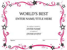 Award certificate template victorian floral frame border 4th worlds best custom award certificate template by misspowerpoint yadclub Gallery