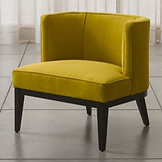 Grayson Mustard Yellow Accent Chair at Crate and Barrel Canada. Discover unique furniture and decor from across the globe to create a look you love. Living Furniture, Unique Furniture, Custom Furniture, House Furniture, Office Furniture, My Living Room, Living Room Chairs, Swivel Chair, Chair Cushions