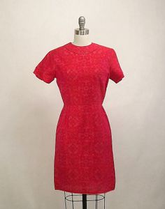 Vintage 60's Party Dress Aline Salmon by SuzisCornerBoutique
