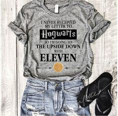 Harry potter and stranger things t-shirt Bff Shirts, Family Shirts, Cute Shirts, Funny Shirts, Stranger Things Jewelry, Stranger Things Shirt, Hogwarts T Shirt, Hogwarts Letter, Harry Potter Shirts