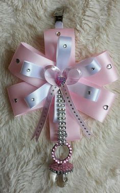 """PINK & WHITE"" x BABY GIRLS CRYSTAL DUMMY PRAM CHARM CHRISTENING GIFT XXX in Baby, Pushchairs & Prams, Pushchairs & Prams 