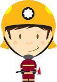 Dibujos animados gran jefe de bombero