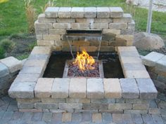 Love the idea of fire and water together!  Fixing to redo our patio and I hope this can go on it!!