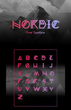 245 Best Free Fonts - Fonts - Ideas of Fonts - Nordic (Free Font) Caligraphy Alphabet, Hand Lettering Alphabet, Alphabet Design, Typography Letters, Typography Quotes, Creative Lettering, Lettering Design, Lettering Styles, Lettering Tutorial