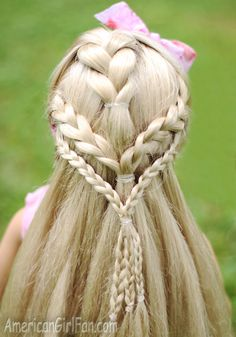 70s Inspired Braids For American Girl Dolls! (Click through for tutorial)