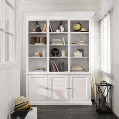 biblioteca de madera blanca an cm biarritz maisons du monde
