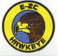 This is the official patch of the Us Navy E-2C Hawkeye built by Grumman. The E-2C Hawkeye is the Navy's and Marine Corps' airborne surveillan...