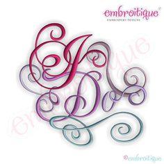 I Do Calligraphy Script Embroidery Design