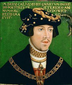"""""""Porträt des König Ludwig II. von Ungarn (1506-1526)"""", 1522, Hans Krell (1490-1565)"""