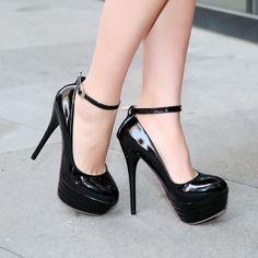 14a7dbdbdbd Womens Super High Heel Stiletto Platform Ankle Strap Wedding Pump Shoes  Plus Sz  platformpumpsstilettos
